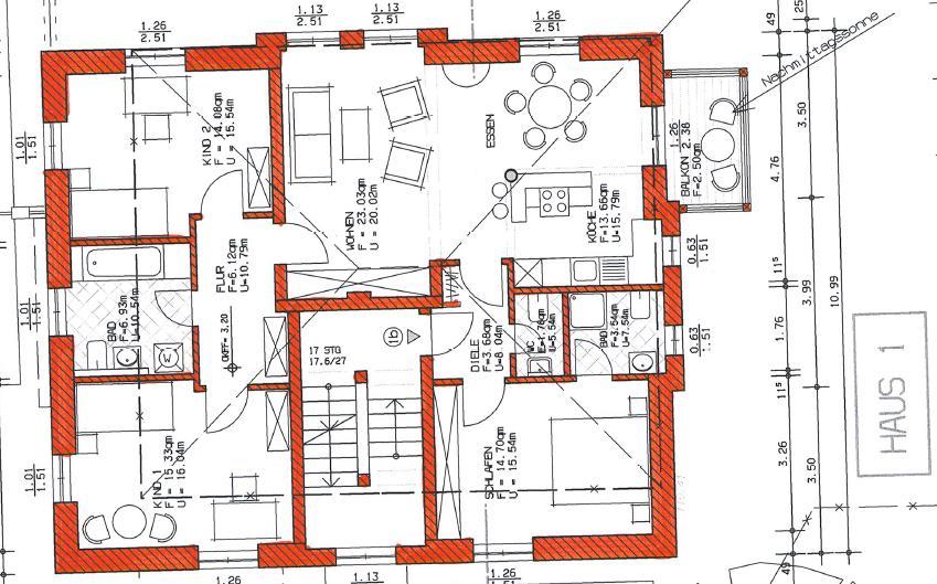 Grundriss Haus 1 WE 02