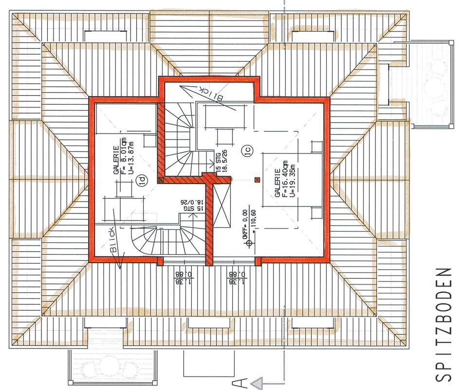 Grundriss Haus 1 WE 03 links 2. Obergeschoss