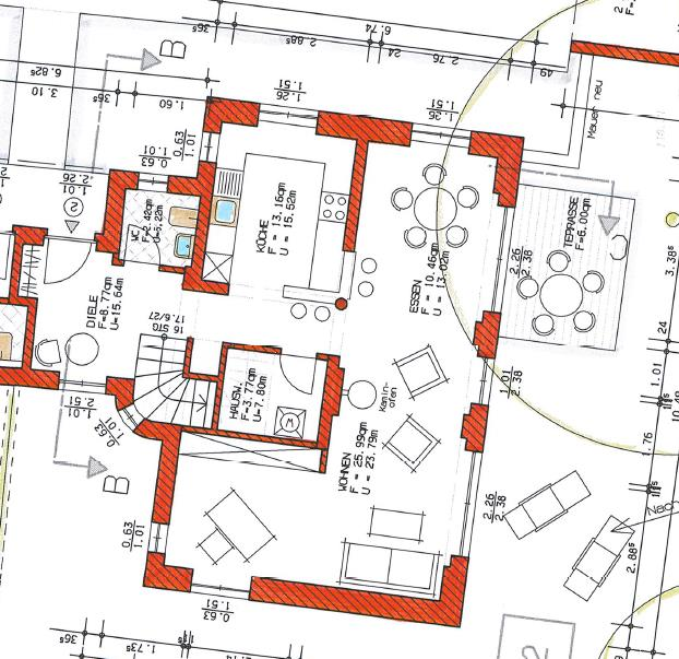 Grundriss Haus 2 WE 05 Erdgeschoss