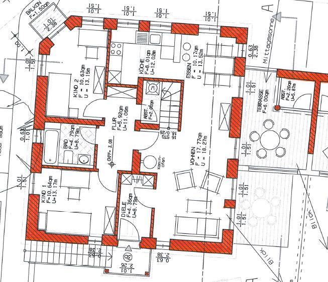 Grundriss Haus 2 WE 07 1. Obergeschoss