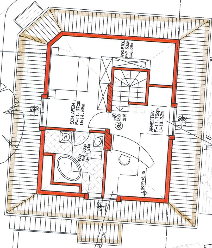 Grundriss Haus 2 WE 07 2. Obergeschoss