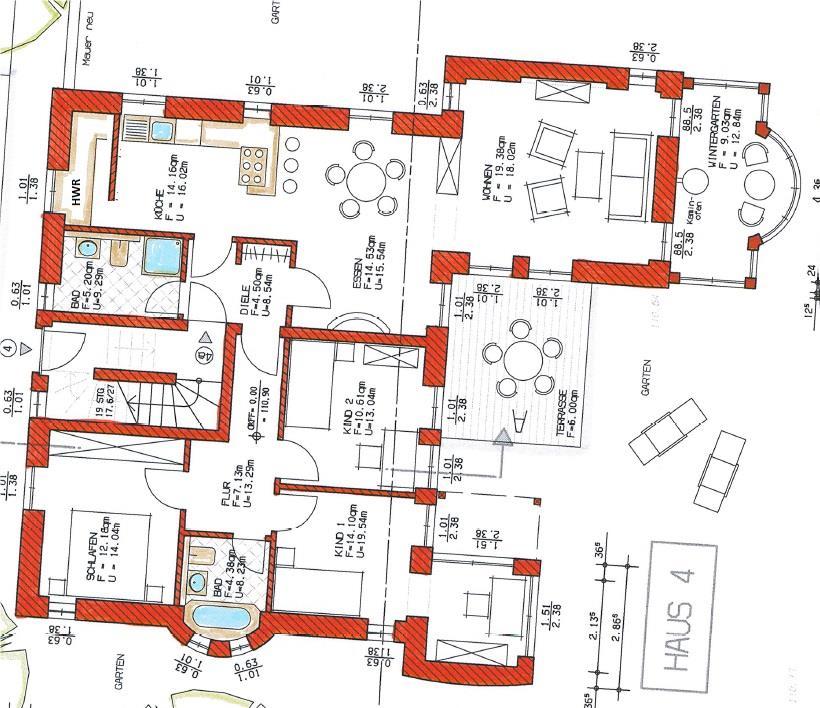 Grundriss Haus 2 WE 08
