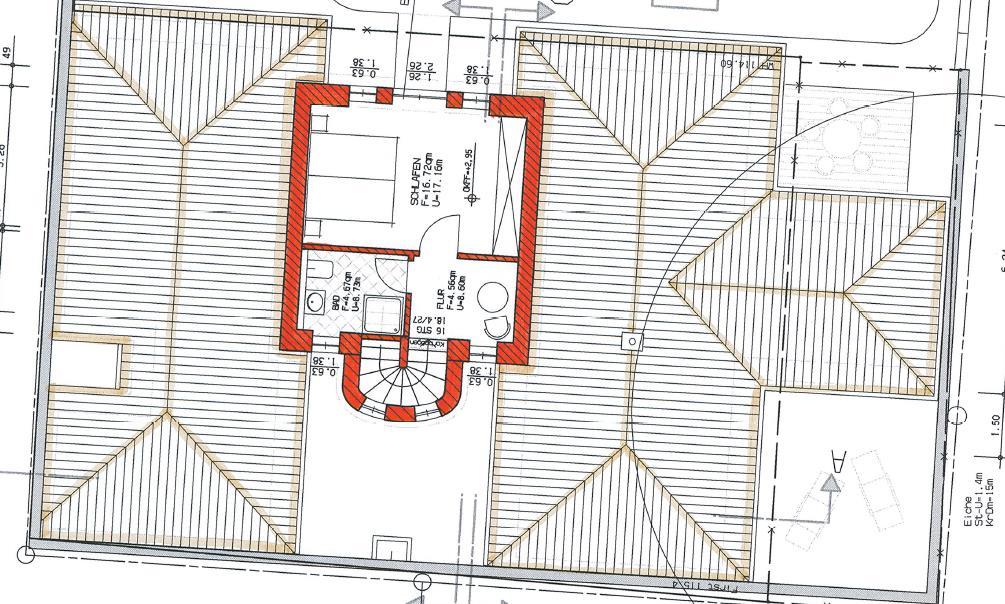 Grundriss Haus 5 WE 11 1. Obergeschoss