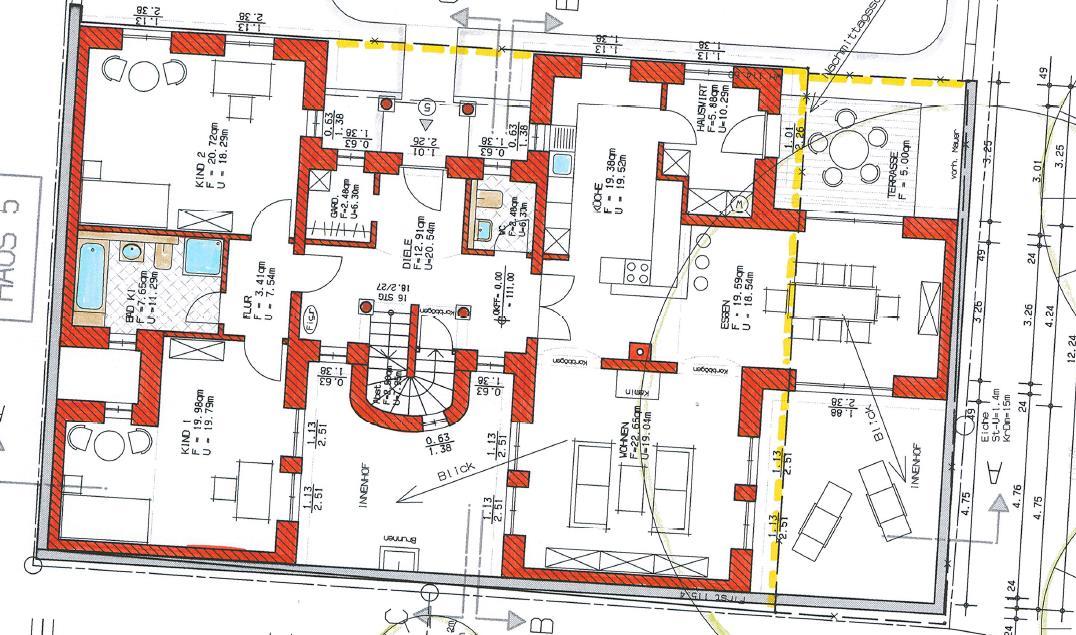 Grundriss Haus 2 WE 11 Erdgeschoss
